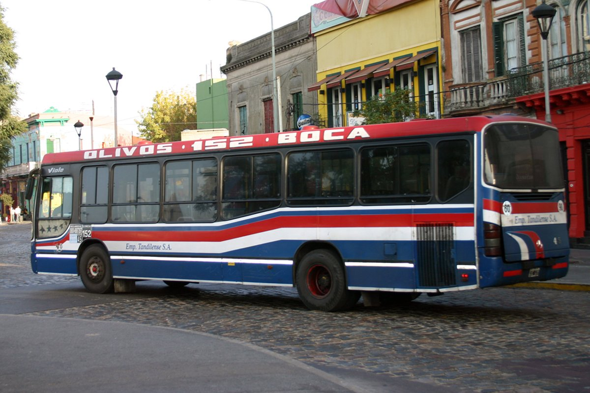 City bus equipped with an Allison transmission in Argentina.