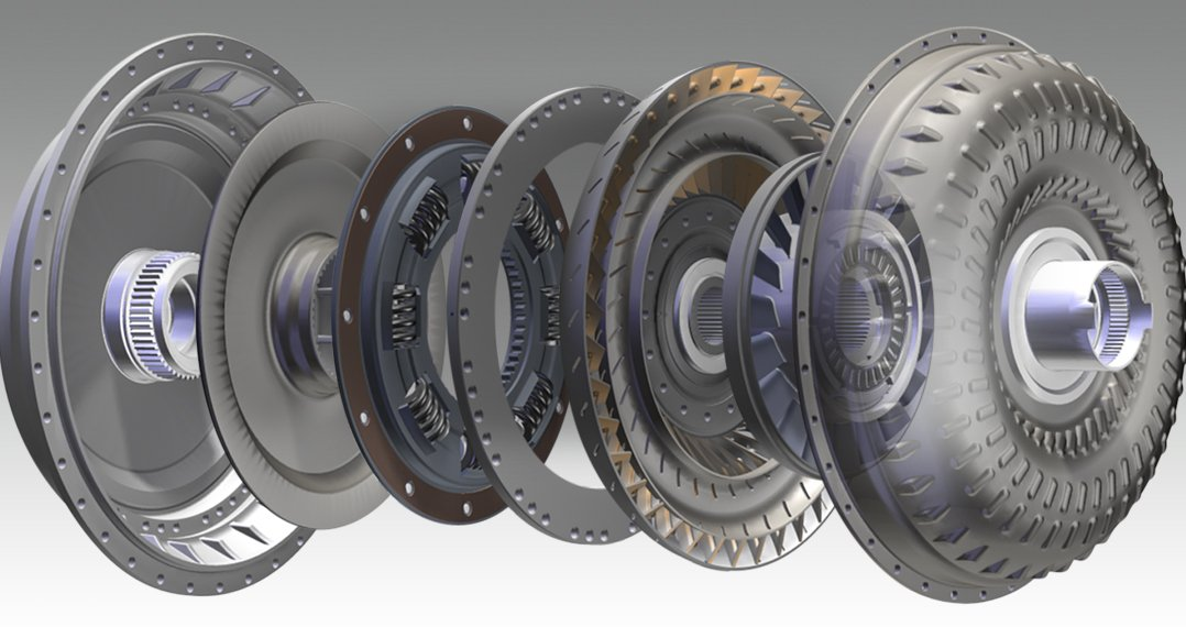 Torque converter break-a-part.