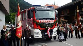 MAN TGS truck equipped with an Allison 4000 Series™ on the road in Tyrol, Austria