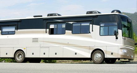 Motorhome equipped with an Allison transmission