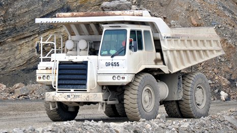 Mining truck equipped with an Allison transmission.