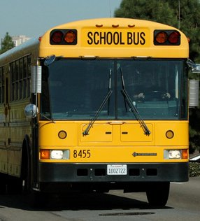 San Diego school bus equipped with an Allison transmission