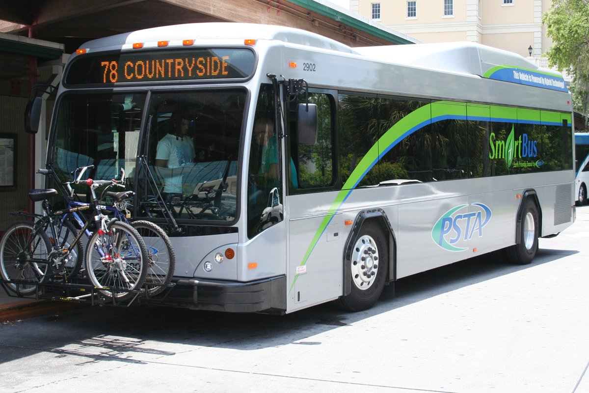 Hybrid transit bus equipped with an Allison transmission.