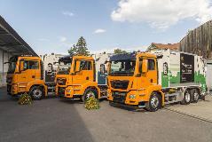 Präsentation der drei neuen Hybrid-Müllfahrzeuge für die Abfallflotte der Schweizer Stadt Thun
