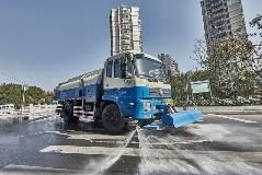 The high-pressure sprinkler equipped with Allison 3000 SeriesTM fully automatic transmission owned by the 2nd Division of Shanghai Jinghuan Sanitation branch company.